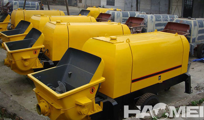 How to lay the pipeline of trailer concrete pump